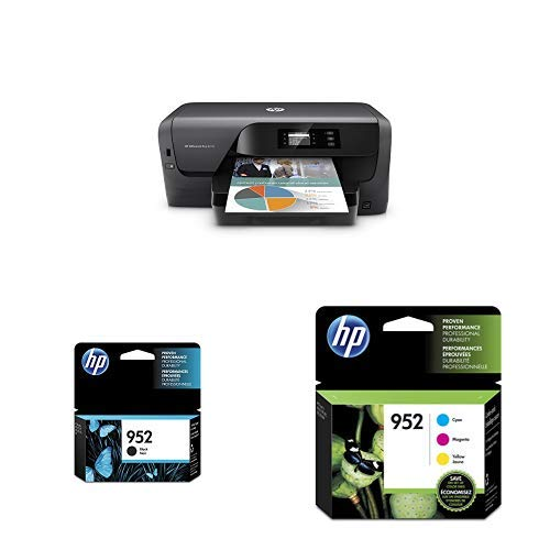 HP OfficeJet Pro 8210 Wireless Printer with Mobile Printing, HP Instant Ink & Amazon Dash Replenishment ready (D9L64A) with Std Ink Bundle