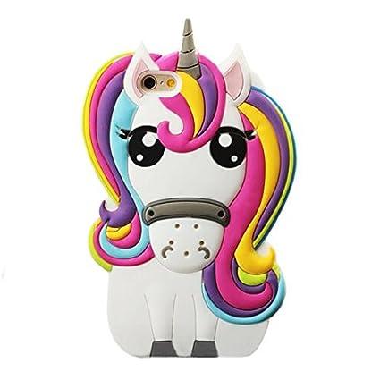best sneakers f6827 d7840 Rainbow Unicorn iPhone 4 4S Case,Awin 3D Cute Cartoon Rainbow Unicorn Horse  Animal Soft Silicone Rubber Case(Rainbow Unicorn)