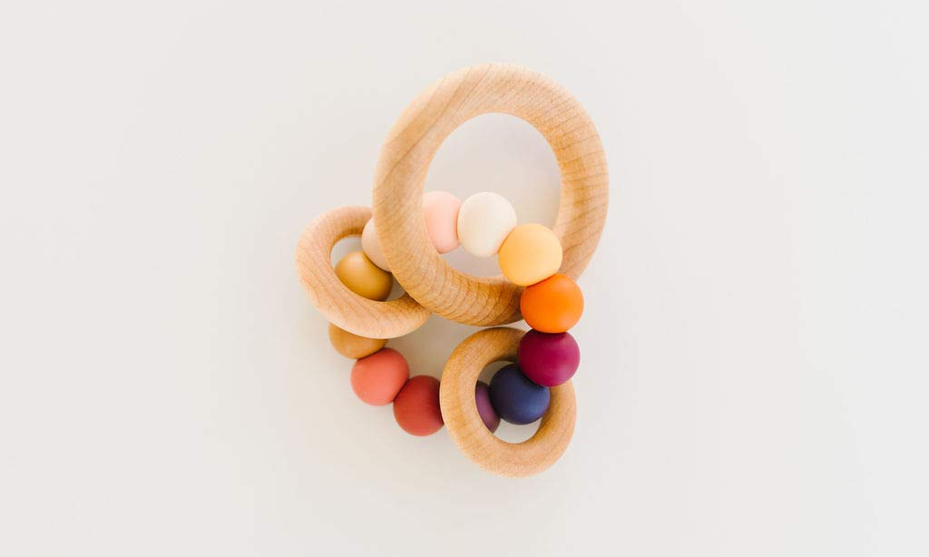 Harvest Saturn Ring Baby Teether Rattle
