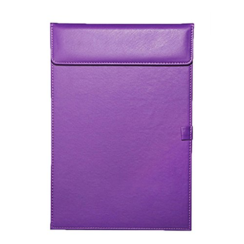 Leather Folder, Zubita Professional Document Holder Notepads and Writing Pads Padfolio Folder for Resumes Interviews and Meetings ( Purple ) (Padfolios Plastic)