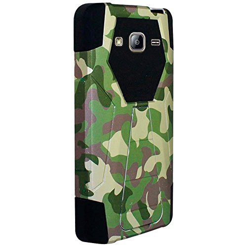 HR Wireless Cell Phone Case for Samsung Galaxy On5 - Camouflage Green Black