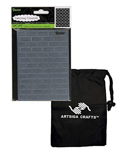 bossing Folder Brick 4.25 x 5.75 1218-108 Bundle with 1 Artsiga Crafts Small Bag ()