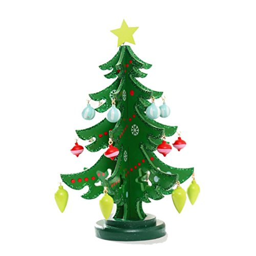 [2016 Christmas Tree!Elevin(TM)Hot Sale 3D DIY Wooden Assembling Christmas Tree Light Home New Year Xmas Party Bedroom Decor Gifts (L,] (Grinch Costume Diy)