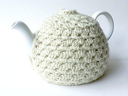 Crochet Tea Pot Cozy Ivory
