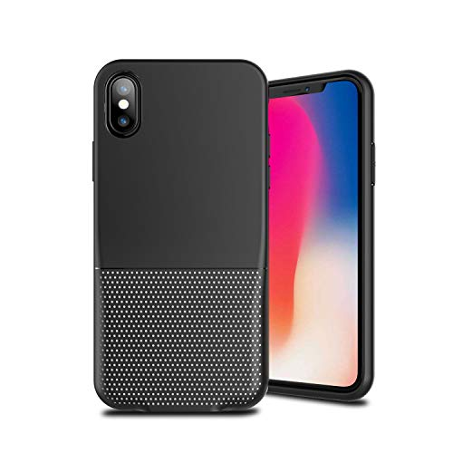 Cocomii Duo Lightning Audio S Armor iPhone Xs Max Case New [Dual Lightning Jack Adapter Case] Call+Audio+Charger Cover [No Dongles/Cables] Charge & Listen to Music for iPhone Xs Max (Duo.Black White) ()