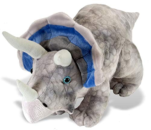 Wild Republic Triceratops Plush, Dinosaur Stuffed Animal, Plush Toy, Gifts for Kids, Dinosauria 19 Inches