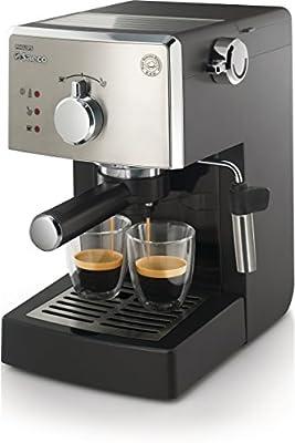 Saeco Poemia Class HD8425/11 - Máquina de café espresso manual para café molido y monodosis E.S.E, 950 W, color negro y gris: Amazon.es: Hogar