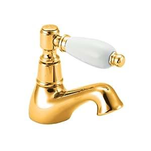 Deva ge01 501 georgian grifo de lavabo dorado for Grifo dorado