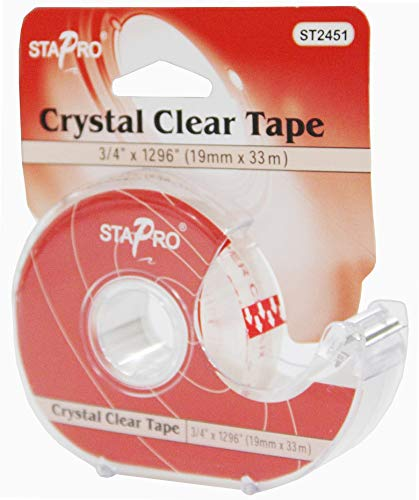 Crystal Clear Tape - STAPRO Crystal Clear Tape 3/4