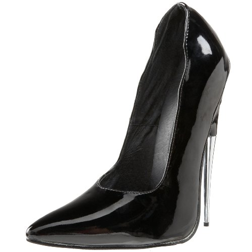 Devious Extrem Pumps SCREAM-01 - Lack Schwarz 40 EU