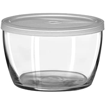 Libbey 16-Ounce Bowl with Plastic Lid, Set of 12