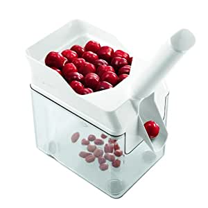 Leifheit 37200 Cherry Pitter with Stone Catcher Container   Cherry Stone Remover Tool