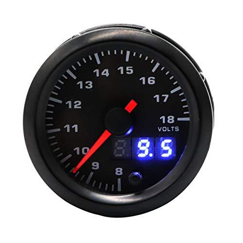 (Vosarea Modified Auto Car Instrument 12V 7 Color Backlight Adjustable Voltmeter)