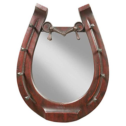 Horseshoe Mirror - Cherry by Black Forest Decor