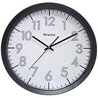 WESTCLOX 32067 / 14 Office Black White Clock