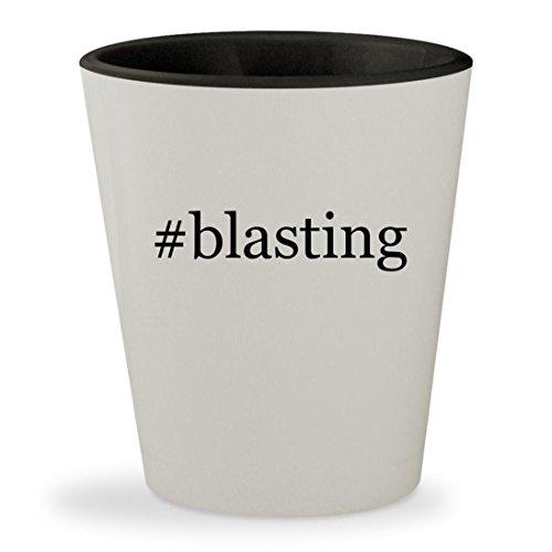 #blasting - Hashtag White Outer & Black Inner Ceramic 1.5oz Shot Glass