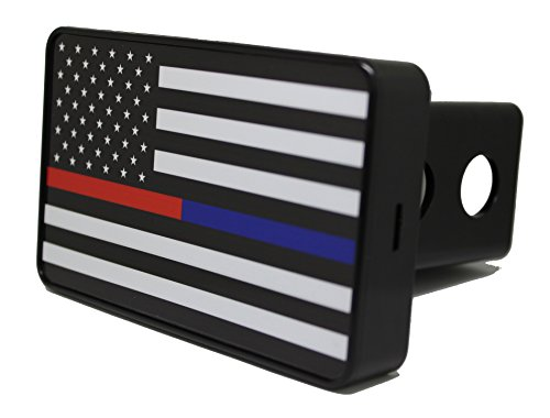 Bright Hitch Thin Blue & Red Line American Flag Hitch (Hitch Cover Lens)