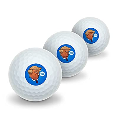 Funny Donald Trump Face Tweet Tweet Novelty Golf Balls 3 Pack