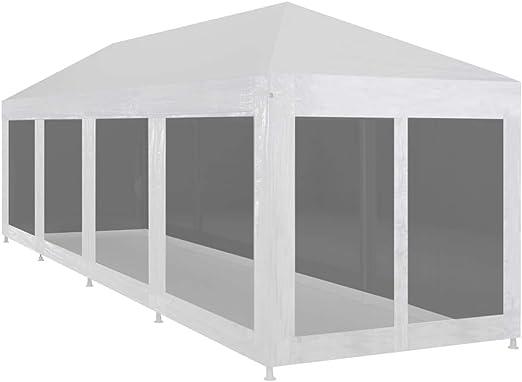 Festnight Carpa de Jardín Plegable con 10 Paredes de Malla para Celebraciones 12x3 m, Impermeable y Resistente a Los Rayos UV, Blanco y Negro: Amazon.es: Hogar