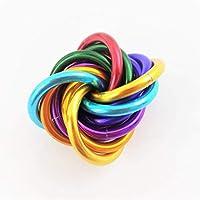 Möbii Rainbow: Small Fidget Ball Stress Mobius Toy, Restless Hand Office, School, Anxiety