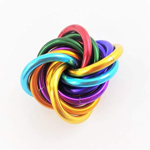 Mobii Rainbow Small Fidget Ball Stress Mobius Toy, Restless Hand Office, School, Stim, Anxiety