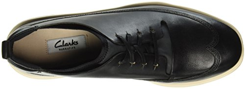 Scarpe Nia Black Clarks Stringate Tri Donna Leather Nero wHUxFn6