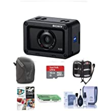 Sony RX0 Ultra-Compact Waterproof and Shockproof Digital Camera with Zeiss 24mm Lens - Bundle with Camera Case, 16GB MicroSDHC Card, Cleaning Kit, Memory Wallet, Card Reader, PC Software Package