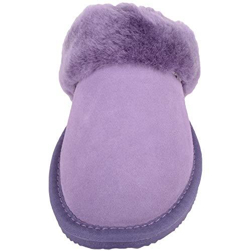 And Estar With Sheepskin Snugrugs Por De Mujer Para Sole Casa Lilac Zapatillas Cuff Lightweight FfqAx8wUt