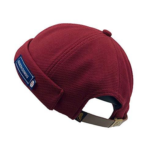Clape Solid French Brimless Hat Kufi Hats Docker Leon Watch Cap Sailor Skullcap Beanie Hat -