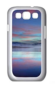 Samsung Galaxy I9300 Case and Cover -Pink Sunrise Polycarbonate Hard Case Back Cover for Samsung Galaxy S3/Samsung Galaxy I9300 White