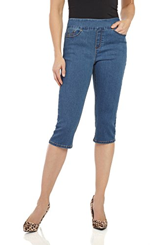 Rekucci Womens Ease in to Comfort Fit Stretch Jean Capri (8,Md. Stone -