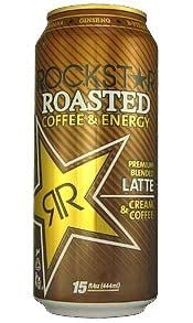 16 Pack - Rockstar Roasted Coffee + Energy Latte - 15oz.