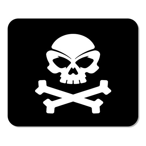Suike Mousepad Computer Notepad Office Crossbones Pirate Skull Black Bones Brain Collection Death Dice Home School Game Player Computer Worker 9.5x7.9 Inch]()