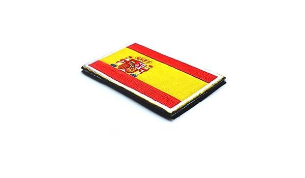 puple Bandera Pulsera de Tela con Bordado de Velcro España Insignia de 1 PIEZA: Amazon.es: Oficina y papelería