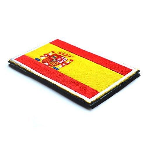 Iyhouse España Español Bandera Gancho Bordado Táctico Placa De Sujeción De Bucle: Amazon.es: Hogar