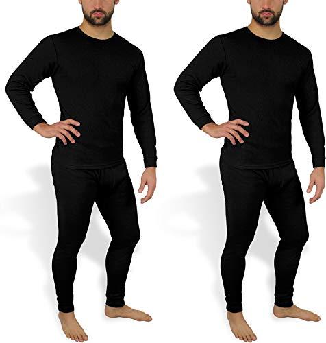 normani 2 x Herren Thermo Unterwäsche - Ski Unterwäsche Garnitur - Lange Unterhose und Hemd - Thermounterwäsche Set