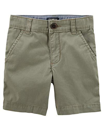 - Osh Kosh Boys' Kids Stretch Flat Front Short, Olive, 7