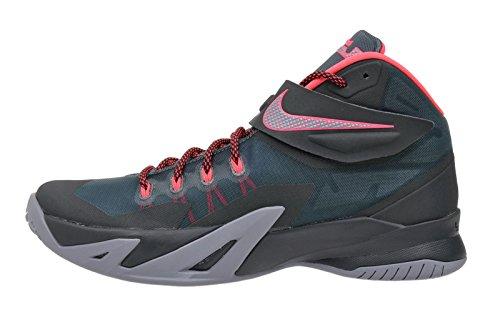 Nike Mens Zoom Soldier Viii Prm Scarpe Da Basket Minerale Ardesia / Iper Punch-alghe-magnete Grigio
