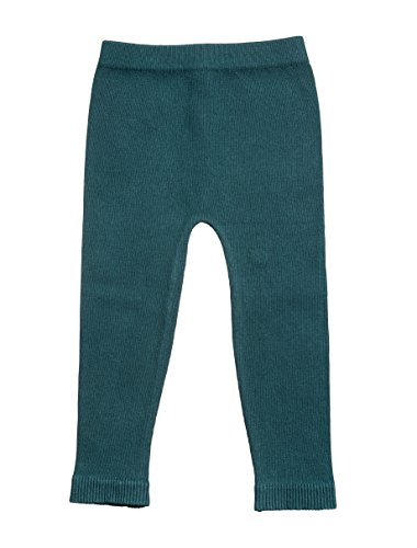Silky Toes Infant, Baby, Toddler Knit Leggings, Cotton Pants for Girls and Boys, (Hunter, 6-12M)