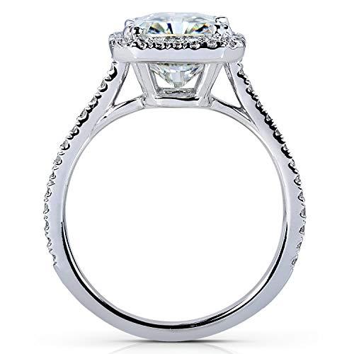 Kobelli Radiant-cut Moissanite Engagement Ring 3 Carat (ctw) in Platinum, Size 6, Platinum