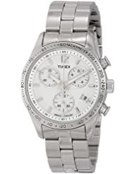 Timex Womens T2P059 Chicago Chronograph Silver-Tone Stainless Steel Bracelet Watch