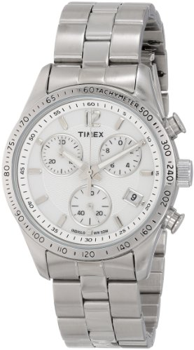 Timex Women's T2P059 Chicago Chronograph Silver-Tone Stainless Steel Bracelet Watch