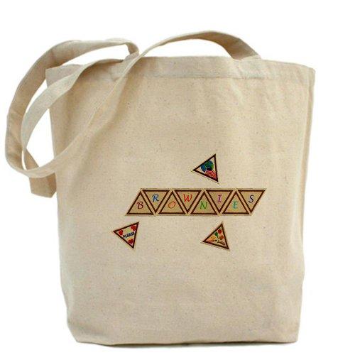 Cafepress–brownie Scout–Borsa di tela naturale, tessuto in iuta