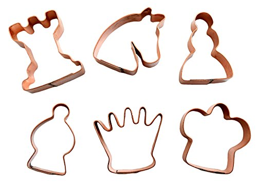 Chess Copper (Miniature Chess Pieces Copper Cookie Cutter Set)
