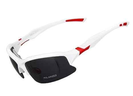 Buibao NEUF de pêche polarisée d'escalade de montagne Cyclisme Eyewear Lunettes de soleil Masque de verre, noir/jaune