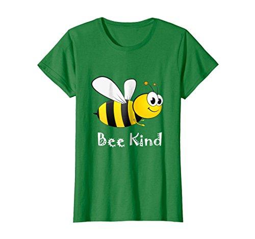 - Womens Bee Kind Bumblebee T-shirt Medium Kelly Green