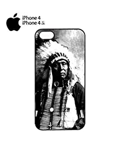 Indians Chief Native Americans Mobile Cell Phone Case Cover iPhone 4&4s White by icecream design