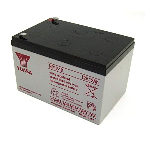 Yuasa NP12-12-250-YUASA NP12-12 SEALED LEAD ACID BATTERY 12VOLT 12AH