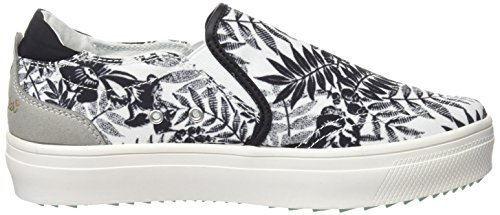 Wrangler Sheena Slip on, Women's Low-Top Sneakers Black - Schwarz (357 Black / Tropical)