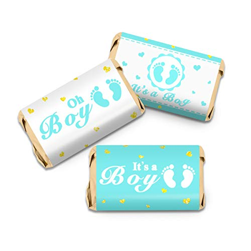 63 Baby Shower Boy Candy Bar Wrapper Stickers
